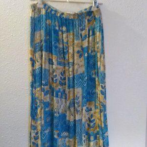 Vintage We Be Bop  Maxi/Broomstick Skirt
